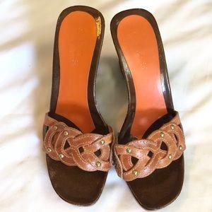 Charles David wood sole sandal sz. 7